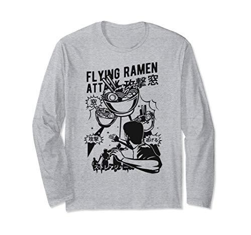 Fliegender Ufo Ramen Angriff - Ramen Nudel Liebhaber Langarmshirt