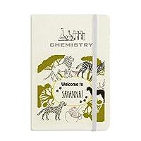 アフリカのサバンナシマウマようこそヒョウ野生生物への 化学手帳クラシックジャーナル日記A 5
