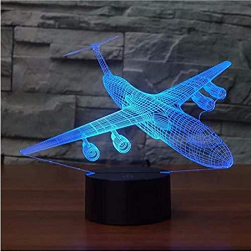 Vliegtuigen 3D Nachtlampje LED 16 Kleuren Veranderende Vliegtuig Tafellamp USB Baby Slaapverlichting Slaapkamer Nachtkastje Decor Xmas Kids Gifts