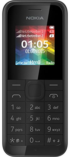 "Nokia 105 Celulare 1.4"", 70 g, Nero"
