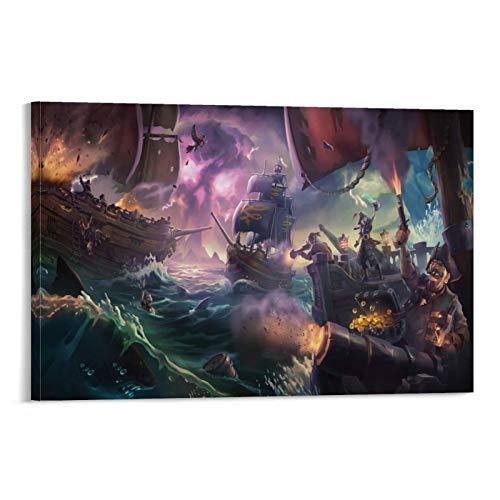 "WERTQ - Poster decorativo ""Sea of Thieves"", 60 x 90 cm"
