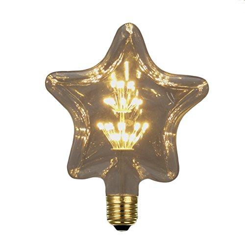 Edison Stern Globe Glühbirne E27 3W Retro Industriell Stil Glühbirne Lampe 120Lumen 110-220V [Energieklasse A+] (F)