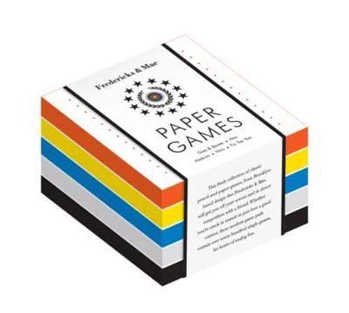 Fredericks & Mae Paper Games: Dots & Boxes - Hex - Hedron - Nim - Tic-Tac-Toe