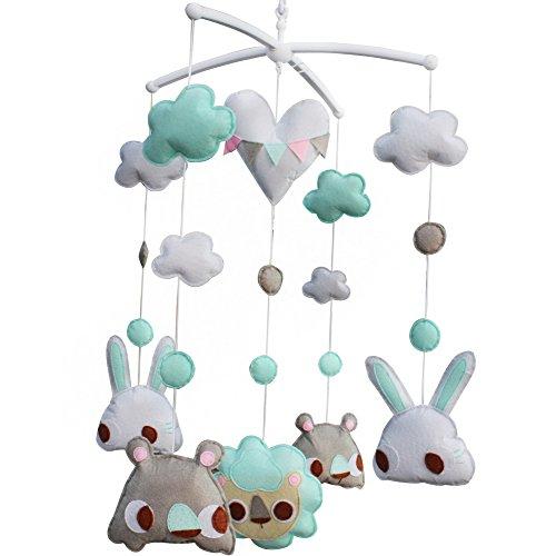 Mobile mobile musical de lit de bébé de pépinière de décoration de berceau pendant 0-2 ans, MP31