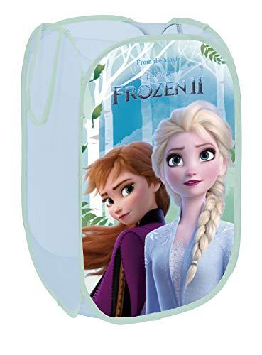 Superdiver Faltbarer Pop-Up Korb für Kinder mit Griffen – Disney Frozen 2-Motiv I Wäschekorb I Organisationskorb für Kleidung und Spielzeug (58 x 36 x 36) Kinderzimmer I Behälter für Mädchenzimmer