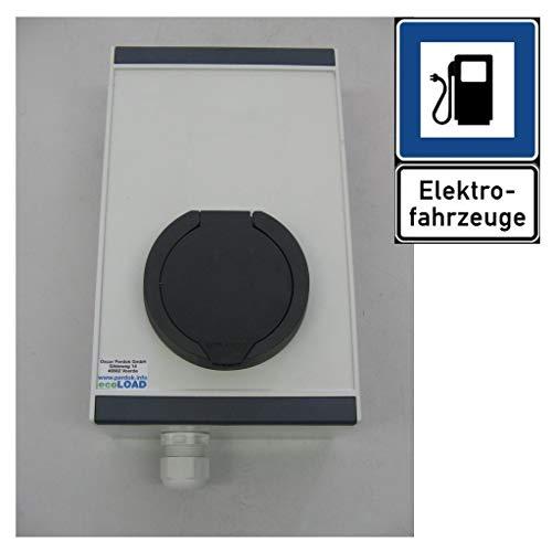 ecoLOAD Wallbox Tipo 2 - Cargador de Coche eléctrico, 4,6 kW, Carcasa de Aluminio