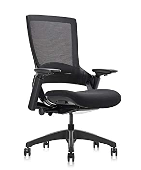 CLATINA Ergonomic High Swivel Executive Chair with Adjustable Height 3D Arm Rest Lumbar Support and Mesh Back for Home Office Black