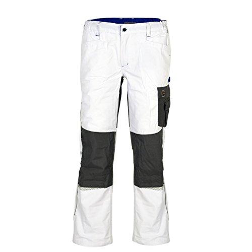 Terrax Workwear Herren Bundhose, Weiß/Royal, Größe:46, Farbe:Weiß/Royal