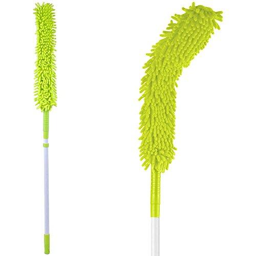 Promobo - Balai Chenille Microfibre Rotatif Manche Télescopique Special Hauteur Et Rebords Vert