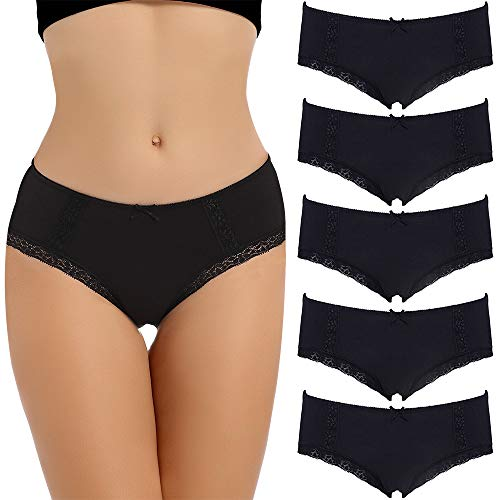 COMSOFT Soft Baumwolle Damen Slip Hipster Unterhosen Damen (Mehrfarbig H, M)