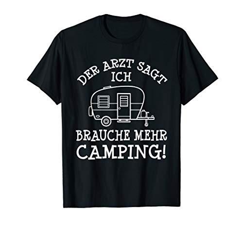 Mehr Camping Spruch Campingplatz Camper & Wohnwagen Geschenk T-Shirt