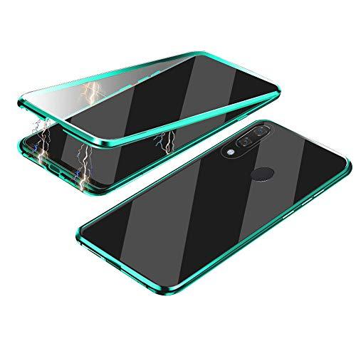 Jonwelsy Cover per Samsung Galaxy A40, 360 Gradi Anteriore e Posteriore Vetro Temperato Trasparente Custodia, Tecnologia di Adsorbimento Magnetico Bumper...