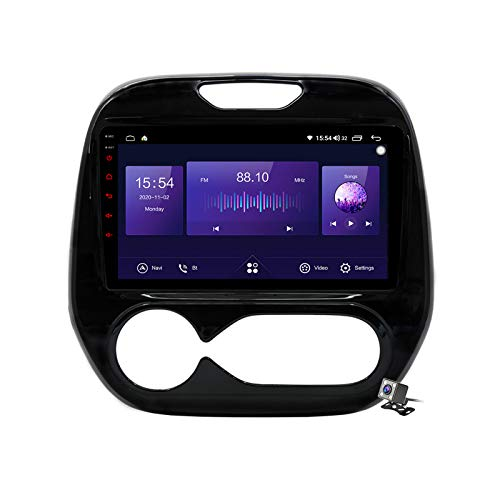 Gokiu Android 10 Car Radio de Navegación GPS para Renault Captur Kaptur 2016-2019 con 9 Pulgada Pantalla Táctil Support FM Am RDS DSP/MP5 Player/BT Steering Wheel Control/Carplay,Auto,7862: 4+64