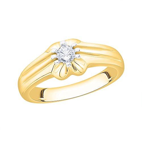 KATARINA - Anillo de oro de 14 quilates (3/8 quilates) (color JK, claridad SI2/I1)