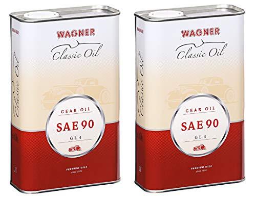 2X Wagner SPEZIALSCHMIERSTOFFE Getriebeöl SAE 90 GL 4 Oldtimer-Getriebeöl 1 L