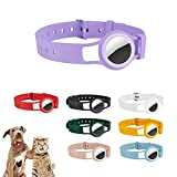 ONTOP Compatible AirTag Dog Collar Holder Waterproof Silicone Anti-Lost Cat and Dog Collar for All Kinds of Cats Dogs and Other Animals 16.7' Dog GPS Tracker Collar Compatible with Apple AirTag