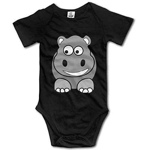 WlQshop Body Bébé Garçon Fille, Hippo Newborn Baby Bodysuit Short Sleeve Baby Girls Bodysuit
