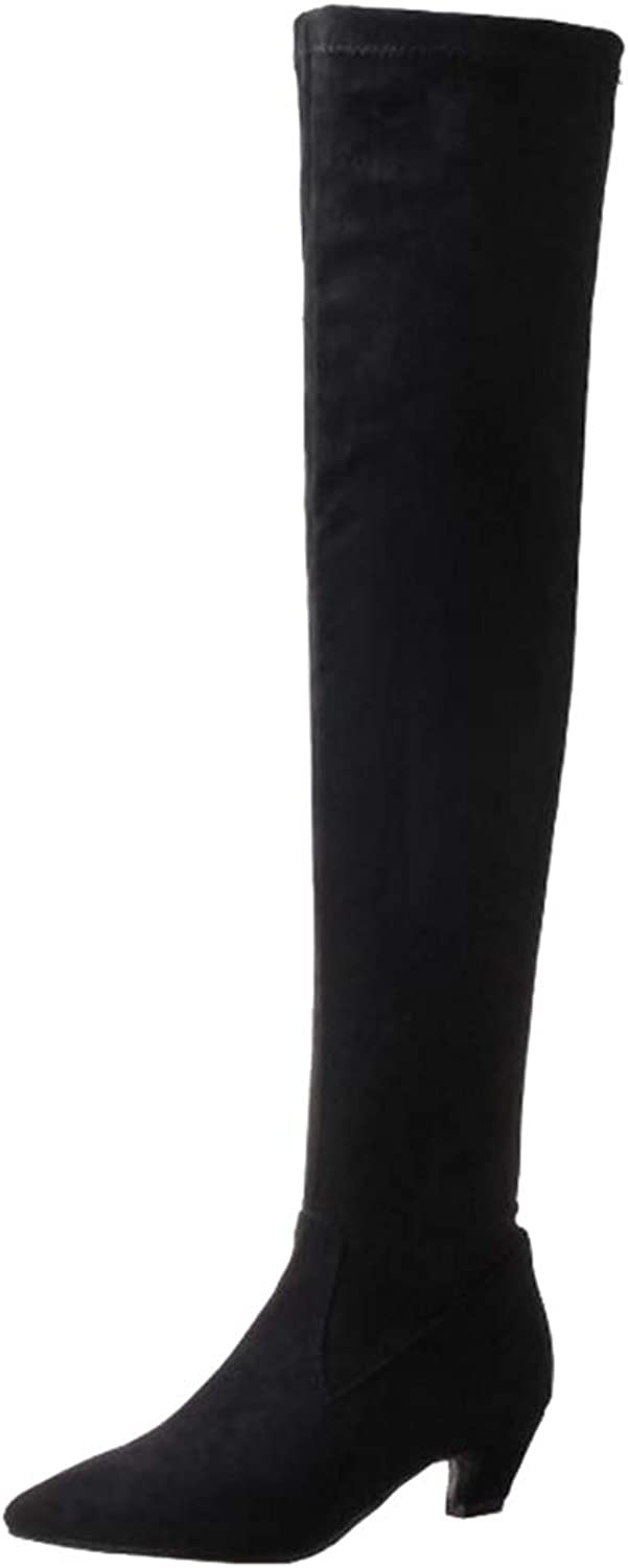 Mo Joc Women Over-The-Knee Pointed Toe Boots Black