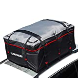 Car Waterproof Rainproof Dustproof Travel Bag Fit for Cars SUVs Vans and Pickup Trucks Cargo Storage Carrier (Red, 19 Cubic)