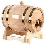 XWX White Oak envejecimiento Cubo Barril de Roble Blanco dispensador de Cerveza Hecha a Mano Whisky Vino y el Brandy Y Más (Size : 5l)