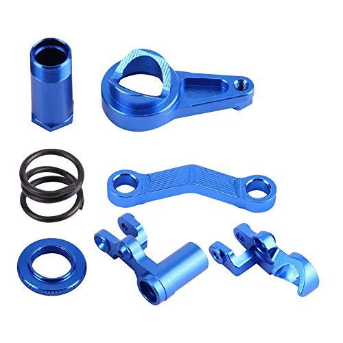 Dilwe Lenkservo-Saver Komplette Teilesatz, Aluminiumlegierung Lenkservo-Saver für Traxxas Slash 4X4 1/10 LKW RC Car RC-Modellteil Zubehör