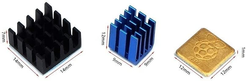 1Set Blue Heatsink Cooler Popular brand in the Special Campaign world Pure Aluminum Heat Set Sink Copper Kit