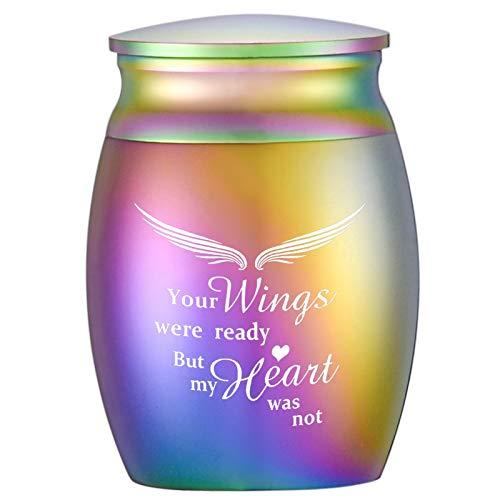 Dekorative Mini-Urnen zum Teilen menschlicher Asche, kleine Beerdigungsurnen – Ihre Flügel waren bereit, aber mein Herz war nicht
