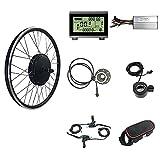 Kit di conversione per biciclette elettriche, senza spazzole motorizzate, 48 V 1000 W, motore posteriore ad alte prestazioni, facile da usare, display LCD 3 USB, kit per bicicletta elettrica
