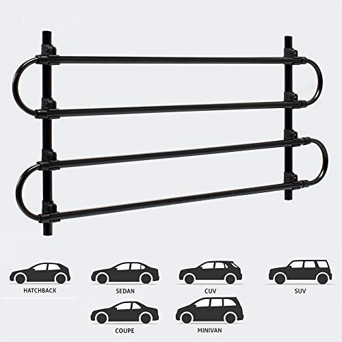 Wiltec Hundegitter fürs Auto mit Verstellbarer Breite von 90-145cm, Trenngitter universell einsetzbar