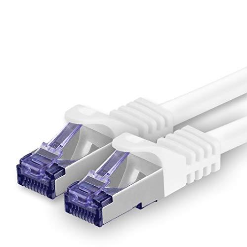 Cat 7 Cable de Red Ethernet LAN - 1m - Bianco -...