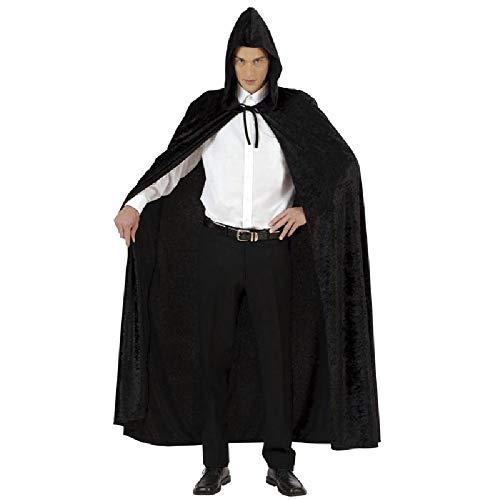 Viving Costumes Viving Costumes200259 Cape avec Capuche en Velours Noir (Taille Unique)