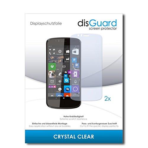 disGuard® Bildschirmschutzfolie [Crystal Clear] kompatibel mit Archos 50 Cesium [2 Stück] Kristallklar, Transparent, Unsichtbar, Extrem Kratzfest, Anti-Fingerabdruck - Panzerglas Folie, Schutzfolie