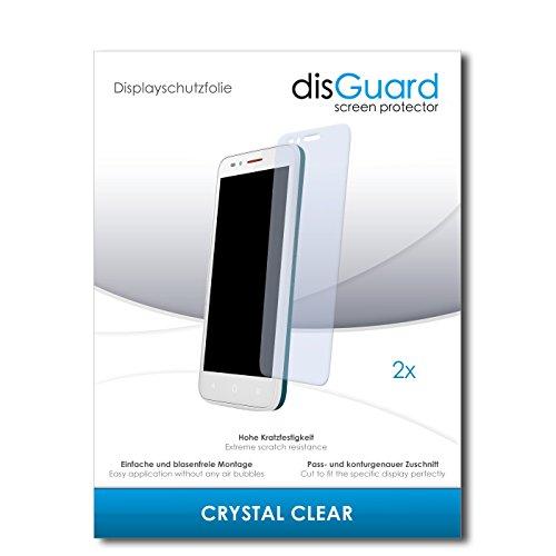 disGuard® Bildschirmschutzfolie [Crystal Clear] kompatibel mit Alcatel One Touch Go Play [2 Stück] Kristallklar, Transparent, Unsichtbar, Extrem Kratzfest, Anti-Fingerabdruck - Panzerglas Folie, Schutzfolie