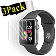 (3Pack) for Smart Watch Screen Protector 38mm, for Smart Watch Tempered Glass Screen Protector, Anti-Scratch Scratch Resistant Scratch-Proof Screen Film Compatible with Smart Watch 38mm Series