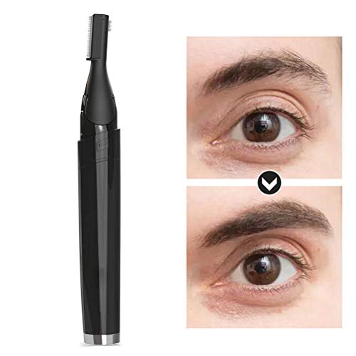 Augenbrauen Trimmer, Elektrisch Augenbrauen, Nasen und Ohrenhaartrimmer, Schmerzloses Augenbrauen Rasier, Eyebrows Hair Remover Präzisionstrimmer für Damen und Männer