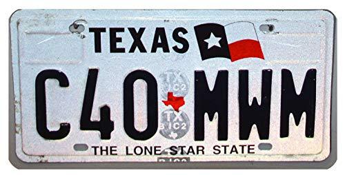 USA_Auswahl_von_Fahrzeugschildern USA Original Kennzeichen Nummernschild Texas // US Kennzeichen // License Plate Blechschild // Geprägte Ausführung (Embossed)