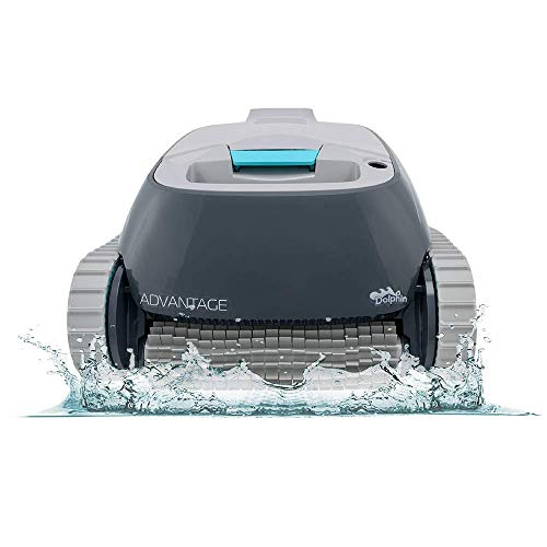 DOLPHIN Advantage Automatic Robotic Pool Cleaner, Compact and Versatile Cleaning, Ideal for Above and In-ground Swimming Pools up to 33 Feet