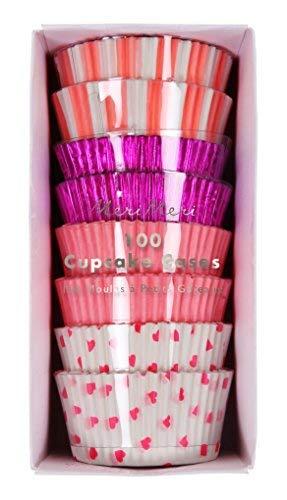 Meri Meri Assorted Pink Cupcake Cases, 45-2595, Set of 100