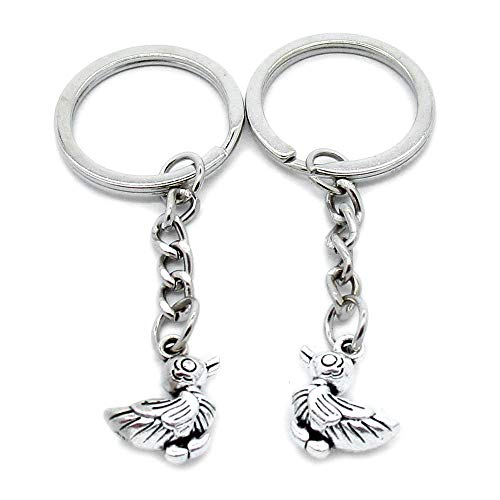 Lowest Price! 100 Pieces Keychains Keyrings Party Supplies Favors Wholesale A2JJ4U Duck Quack Key Ch...