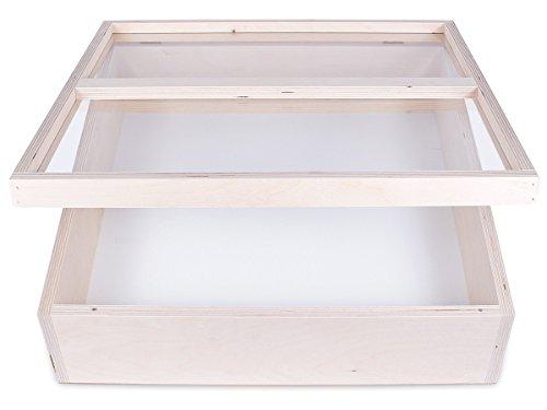 Alsino, B00M1TSQ1I, showkast, vitrine presentatie, hout, infobox voor winkels, sieradenkast, verkoophulp 50 cm, 12 cm insteldiepte