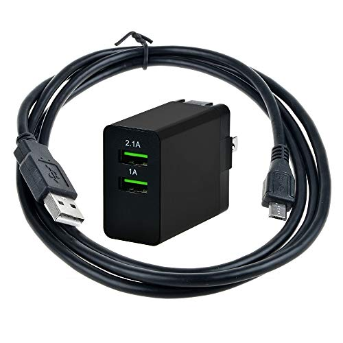 AT LCC USB AC/DC Adapter + USB Charging Cable for Acer Iconia Model No: A1311 7.9' 8' Android Tablet PC Computer Power Supply Cord Cable Charge Battery Wall Charger Mains PSU