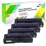 Cartuchos de Tóner Compatibles con 4 Colores SP C250 C261 Alta Capacidad 2300 Páginas para Negro Cian Magenta Amarillo para RICOH Aficio SP C250DN C250SF C261SFN C261SFNw C261DNw Impresoras GREENPRINT