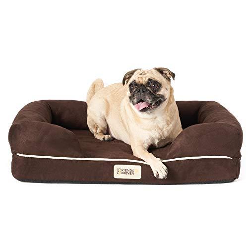 SCM Cama Ortopédica para Perros - Funda Extraíble 100% Gamuza - Colchón de Espuma Viscoelástica de 10 cm - Sofá Lounge para Perros Grandes