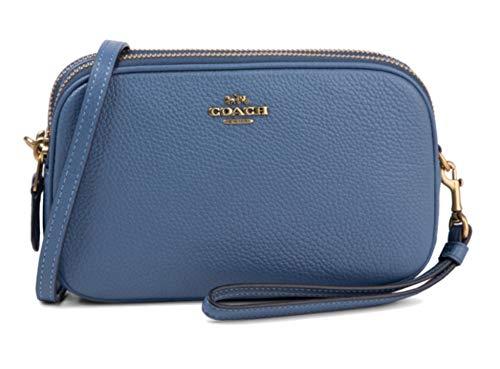 Borsa a Tracolla Coach New York in pelle Donna COACH NEW YORK cod.65547 Stone blue SIZE:UNI