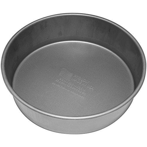 G & S Metal Products Company Signature Poêle à gâteau ronde antiadhésive de qualité commerciale, 23 cm, gris