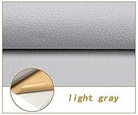 貼るレザー合皮生地 メーターで販売ソファ、ソファー、家具、運転席用合成皮革テープ自己粘着革修復パッチ(複数色) (Color : Light gray, Size : 1.4×0.5m)