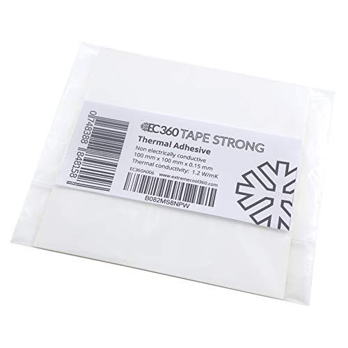 EC360® Tape Strong Extra Starke Wärmeleitklebefolie 1,2W/mK Wärmeleitfähige Beidseitig Selbstklebende Wärmeleitfolie z.B. Für Wärmeleitpads (100 x 100 mm)