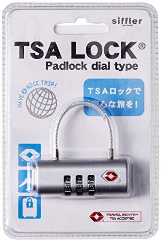 [シフレ] ダイヤルロック南京錠 TSAロック機能 2 cm シルバー