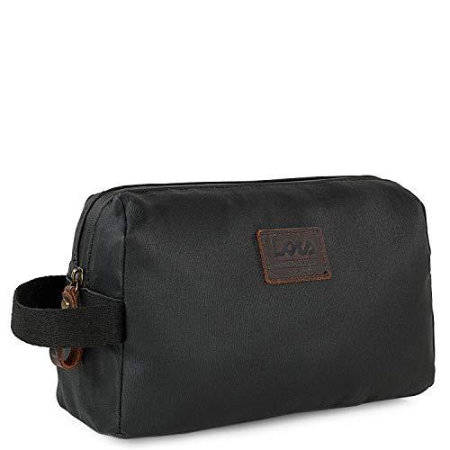Lois - Neceser de Viaje para hobre de Lona recubierta/Piel Funcional versátil diseño y Calidad 307823, Color Negro