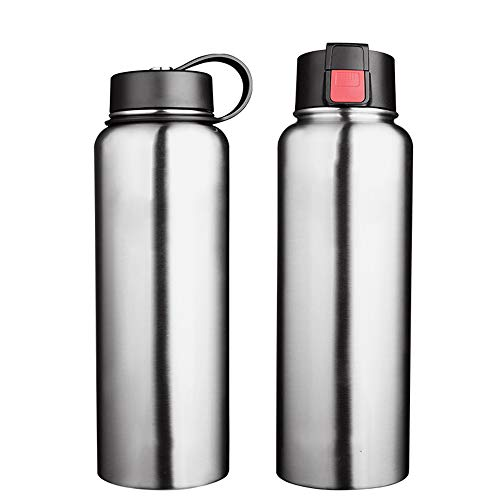Vacuum Insulated Water Bottle Sports Water Bottle 550 ML Double Wall Vacuum Stainless Steel Insulated Leak Proof Drinking Bottles BPA Free Cap For Outdoor Camping And Hiking for Cyclists, Runners, Hik